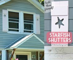how to build decorative shutters with cutouts of starfish http www