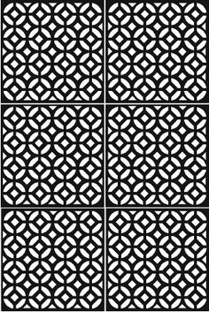 octagon circle screen - feng shui connection via pattern