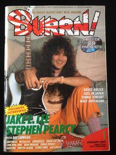 burrn! january 1987 heavy metal #magazine jake e. lee stephen pearcy ozzy japan from $25.0