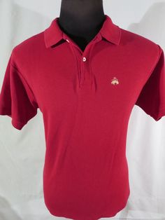 60s Vintage Brooks Brothers Golden Fleece Mens XL Red Polo Shirt EUC #BrooksBrothers #PoloRugby