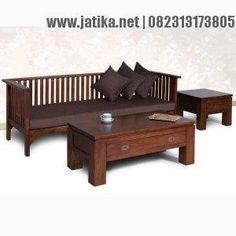 Set Bangku Keluarga Minimalis Jati
