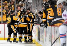 Penguins vs. Rangers - 12/20/2016 - Pittsburgh Penguins - Photos DECEMBER 20: Evgeni Malkin #71 of the Pittsburgh Penguins celebrates his second period goal against the New York Rangers