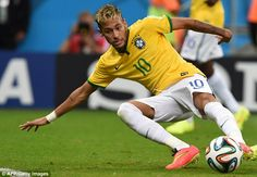 Eyes on the prize: Brazil forward Neymar Jr. is third on the list earning £9.5million-a-ye...