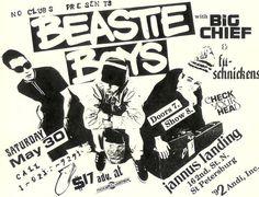 #vintage Beastie Boys gig poster. RIP MCA.