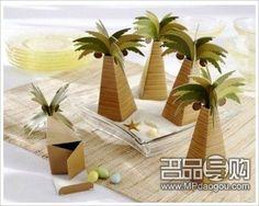 这款是海洋沙滩风格的喜糖盒,海洋风格婚礼少不了它!