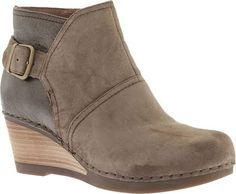 Dansko Boots Womens Salinas Shirley Ankle Wedge 38 Taupe 1252151200