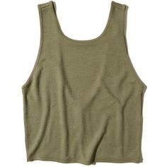 Hollister Cropped Scoop Back Tank Crop Shirt, Cropped Tank Top, Crop Tank, Tank Tops, Green Tank Top, Green Shirt, Olive Shirt, Tumblr Fashion, Girly