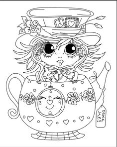 Look what I found on AliExpress Mom Coloring Pages, Colouring Pics, Printable Coloring Pages, Coloring Sheets, Coloring Books, Cartoon Drawings, Cute Drawings, Big Eyes Artist, Scrapbooking Photo