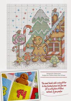 schema punto croce casa di marzapane   Hobby lavori femminili - ricamo - uncinetto - maglia