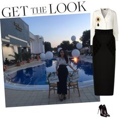 A fashion look from July 2016 by andreearaiciu featuring ESCADA, Balenciaga, Karl Lagerfeld and Pieces Get The Look, Karl Lagerfeld, My Outfit, Fashion Looks, Balenciaga, Shoe Bag, Polyvore, Outfits, Collection