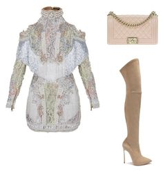 """""""Bling"""" by jaymagic ❤ liked on Polyvore featuring Balmain, Casadei and Chanel"""