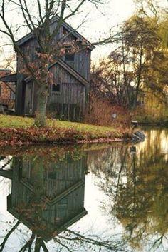 Old Barns Reflection