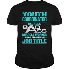YOUTH COORDINATOR T-Shirts, Hoodies. SHOPPING NOW ==► https://www.sunfrog.com/LifeStyle/YOUTH-COORDINATOR-116802842-Black-Guys.html?id=41382