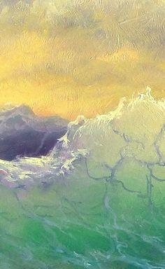 Wrap de Galerie toile tirages 11 « x 14 » sont imprimés sur du lourd, sans acide, pH neutre d'archives toile enduite (400 g) à l'aide de 12 couleurs résistantes pigmenté à l'encre. Enduit avec revêtement de protection transparent contre les ultraviolets. Enroulé sur 3/4 barres avec côtés noirs et agrafées à l'arrière, prêt à accrocher (fil photo joint). Cette copie d'art représente la source d'inspiration et de rêve sur la mer orageuse. L'impression est titrée, datée et signée au dos par...