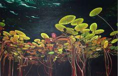 Waterlelies 100 cm X 150 cm