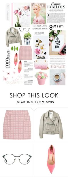 """""""Gemini ♥ The Twins"""" by paty ❤ liked on Polyvore featuring Alexander Lewis, Acne Studios, 3.1 Phillip Lim, CO, Fendi, Kerr®, Chanel and Moschino"""
