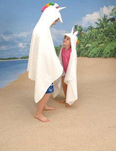 Unicorn Hooded Towel ♡ Unicorns and Dinosaurs ♡
