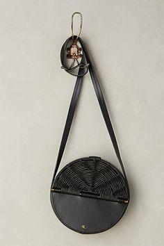 Wicker Tambourine Crossbody Bag #anthropologie
