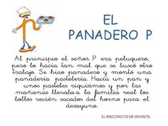 Cuento el panadero p para leerlo. Grade 1, Toddler Activities, Kindergarten, Homeschool, Banner, Album, Education, Signs, Learning