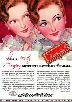 vintage maybelline ad beauty