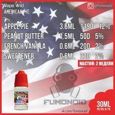 Vape Wild (American Pie) - американский пирог, а если быть точнее, то шарлотка, а если еще точнее - яблочный пирог