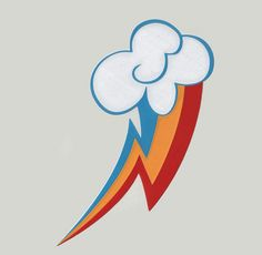 My Little Ponies Rainbow Dash Decal, MLP Cutie Mark. $5.99, via Etsy.