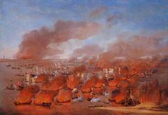 Willem van de Velde de Oude - Branden van Nederlandse koopvaardijschepen tussen Terschelling en Vlieland, 19 augustus 1666