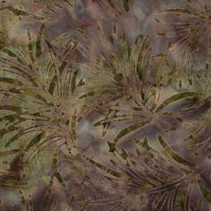 Fresh Water Java Batiks Lilac Palm Branch Batik