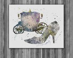 Cinderella art, Cinderella art print, Cinderella print, Cinderella poster