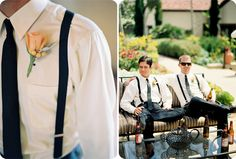 For the chambelanes. We like the suspenders.