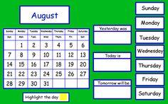 Just Add Clipart: Calendar on the Promethean Board