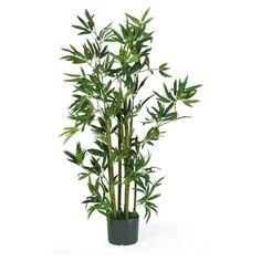 Nearly Natural 4 ft. Bamboo Silk Plant - 5040