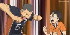 what a broship! Tanaka Haikyuu, Haikyuu Nishinoya, Hinata Shouyou, Haikyuu Anime, Volleyball Anime, Japanese Film, Funny Anime Pics, Kirito, Anime Characters