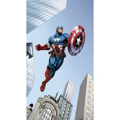 Avengers, Bosszúállók blackout függöny x 245 cm) Captain America, Decoration Originale, Spiderman, Door Handles, Avengers, Mickey Mouse, Darth Vader, Marvel, Superhero