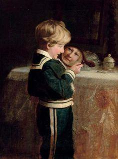 """I See You!"" -- Frederick Morgan (1847 – 1927, English)"