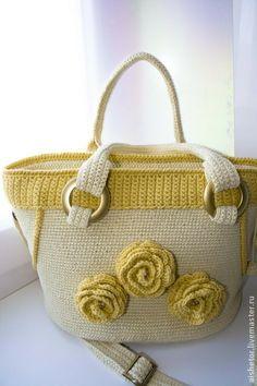 Сумка крючком Rocky - бежевый,сумочка вязаная,для женщин,подарки к праздникам