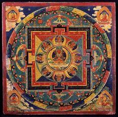 Amitayus Mandala. Tibet; ca. 14th century, Courtesy Rubin Museum of Art