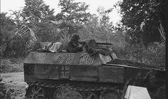"""kruegerwaffen: """"Grenadier in Sd.Kfz. 250 Neu shooting at the paratroopers near Arnhem, Operation Market Garden, 17th-25th september 1944. """""""
