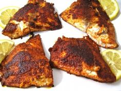 Fantastic, Skinny Blackened Tilapia! So delicious and so easy to make. The seasonings are perfect with just a hint of spice. The tilapia is pan fried in heart-healthy olive oil. Each serving has 195 calories, 7 grams of fat and 5 Weight Watchers POINTS PLUS. http://www.skinnykitchen.com/recipes/fantastic-skinny-blackened-tilapia/