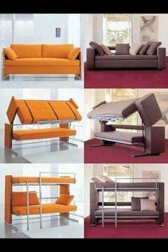 Such a great idea. And it would probably stay nice longer than a typical sleeper sofa...