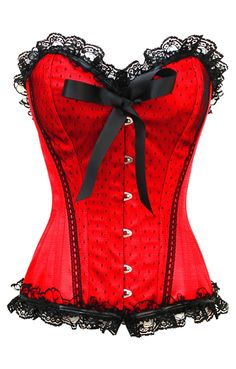 ON SALE: £59.00 US $85.21 Red Burlesque Corset | Burlesque Corset | Plus Size Corset | Corsets