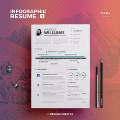 Infographic Resume Bundle  Resumes  Cv Sjabloon