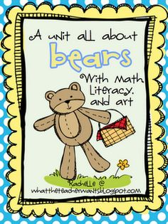 This 101 page bear unit includes math, literacy, and art activities.Here's what is included:*Facts book*Anchor charts*Graphic organizers*Coun. Teaching Tools, Teaching Math, Teaching Ideas, Preschool Education, Elementary Education, Teddy Bear Day, Teddy Bears, 3 Bears, Baby Bears