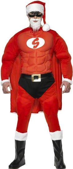 Disfraz de super Papá Noel musculoso para hombre. Disponible en www.vegaoo.es