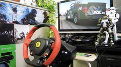 [25] Xbox One Forza 6  Thrustmaster Ferrari 458 Spider Racing Wheel Game...