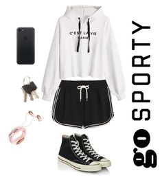 """""""sporty#2"""" by giuliaabalanuta on Polyvore featuring Monki and Converse"""