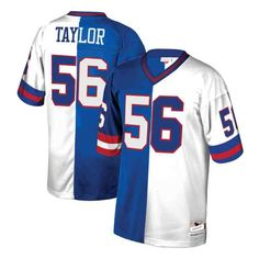 2b079ed07 Lawrence Taylor New York Giants Mitchell   Ness Retired Player Split  Replica Jersey – Royal
