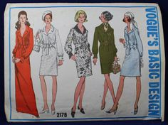 1960's Sewing Pattern for a Woman's Dress in Size 14 - Vogue 2178