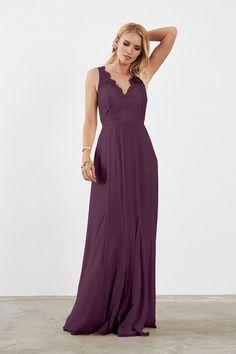 Weddington Way Mila Bridesmaid Dress in Plum in Chiffon