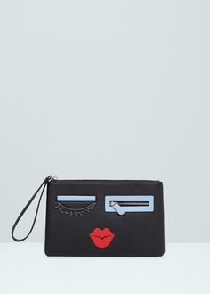 Embroidered details envelope - Bags for Women | MANGO